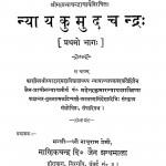 Nyay Kumud Chandra Bhaag 1  by नाथूराम प्रेमी - Nathuram Premi