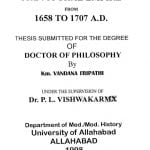 Economic Policy Of The Mughal Empire From 1658 To 1707 A. D. by वन्दना त्रिपाठी - Vandana Tripathi
