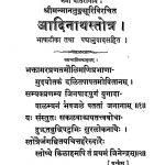 Shri Aadinath Stotra by मानतुङ्ग सूरी - Mantunga Suri