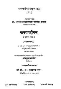 वाक्यपदीयम् - भाग 3 - Vakyapadiyam - Part 3